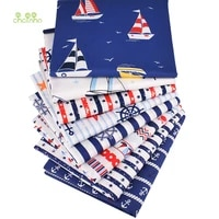 chainho2019 ocean series8pcsiotprint twill cotton fabricpatchwork cloth for diy quilting sewing babychild material40x50cm