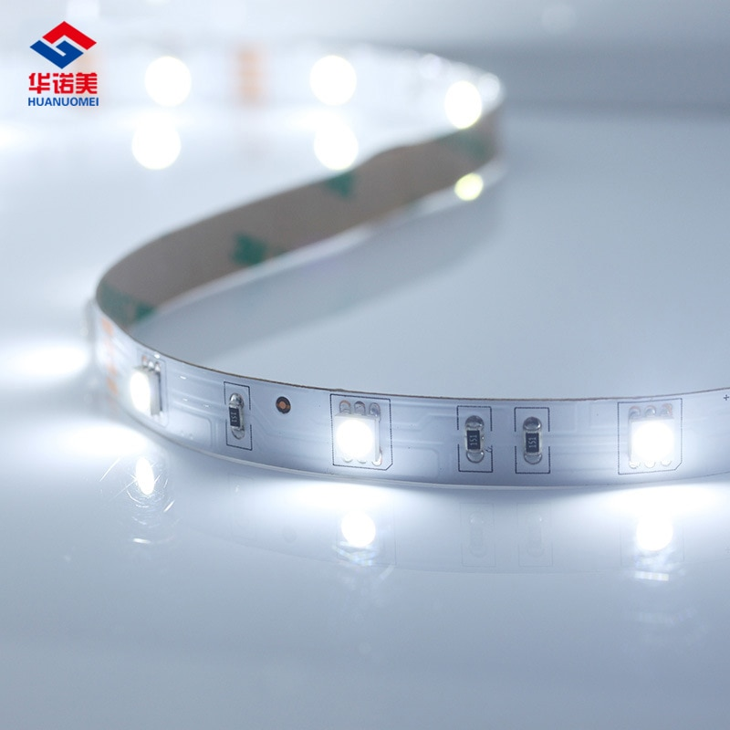 5 m blanco frío SMD 5050 luz flexible tira llevada Cintas 30 LEDs/M 5 m/roll led luz cinta flexible luces lámpara no-impermeable PCB blanco