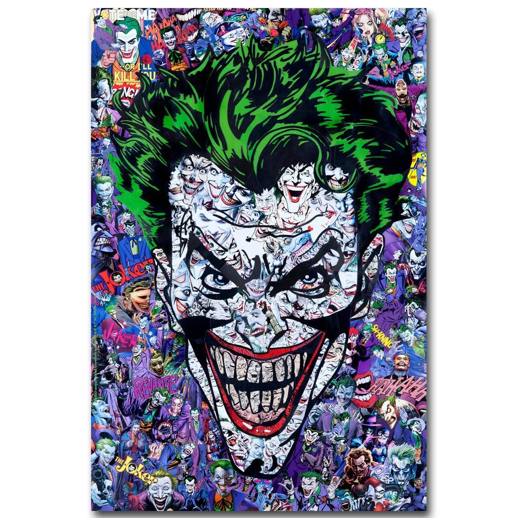 Joker - Batman Superhero Comic Art Silk Fabric Poster Print 13x20 24x36inch Anime Picture for Room Wall Decoration 013