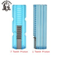 Lightweight Fibre Reinforced Steel Full 15 Teeth Piston 1/7 Teeth Piston For M4 AK G36 MP5 Airsoft AEG Gearbox Ver.2/3