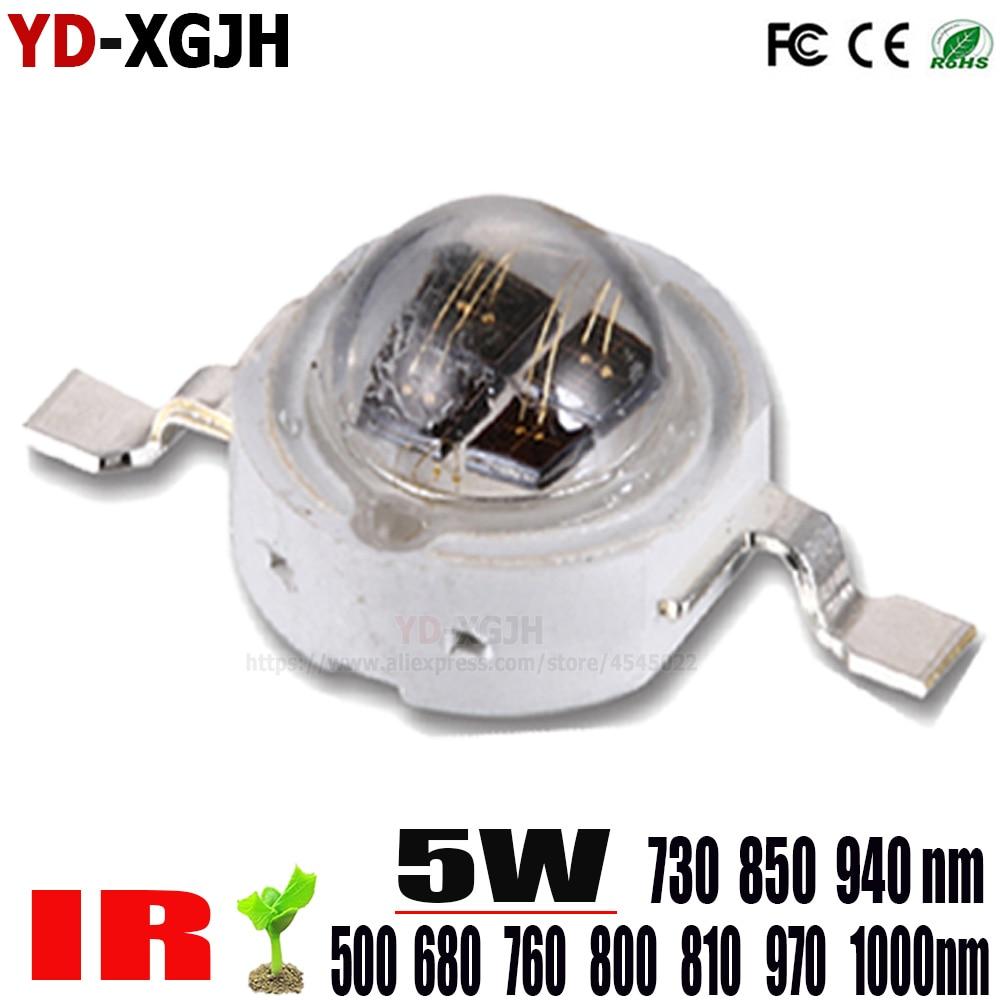 10 pçs/lote de alta potência led chip ir 1 w 3 5 cob smd led grânulo para 5 watt ir vigilância vídeo luz vr. ar, realidade virtual