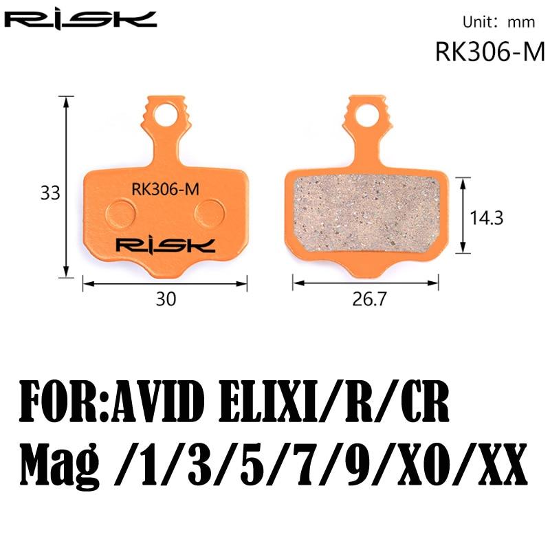 Riesgo-de freno de disco de bicicleta pastillas para AVID ELIXI/R/CR/Mag/1/3/5/7/9/XO/disco XX juego de frenos pastillas de 1 par