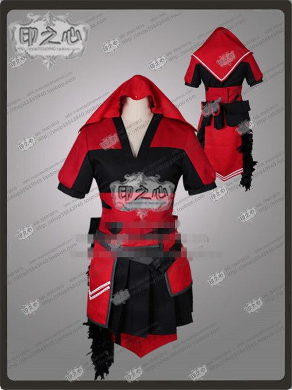 Anime Raven Branwen Kimono rojo y disfraz de cosplay negro Kimon + un vestido de