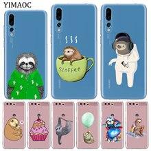 YIMAOC lovely sloth Soft Silicone tpu Phone Case for Huawei Mate 30 20 Pro 10 Lite Nova 5I 4 3 3i 2i 2 Lite Cover