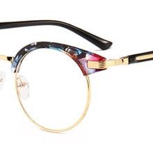 Women big finished myopia glasses round frame Nearsighted Glasses prescription glasses eyewear flora