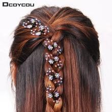Mini serre-tête en strass flocon de neige   6 pièces/1 pack, pinces à cheveux de mariée de mariage, épingles à cheveux fleur, accessoire de cheveux