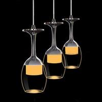 goblet chandeliers Organic acrylic 3 light