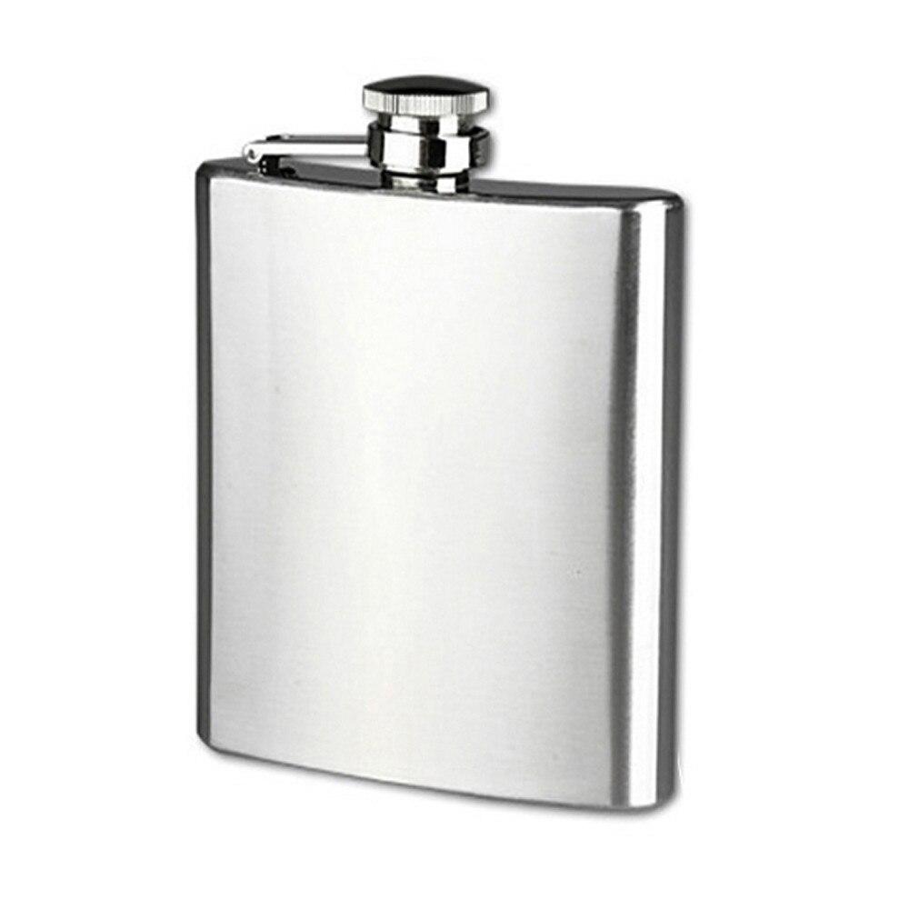Tragbare Edelstahl 18 unzen Tasche Hüfte Glaskolben Alkohol Whisky Schnaps Schraube Kappe Trichter Tragbare Flagon Flasche Flachmann L * 5