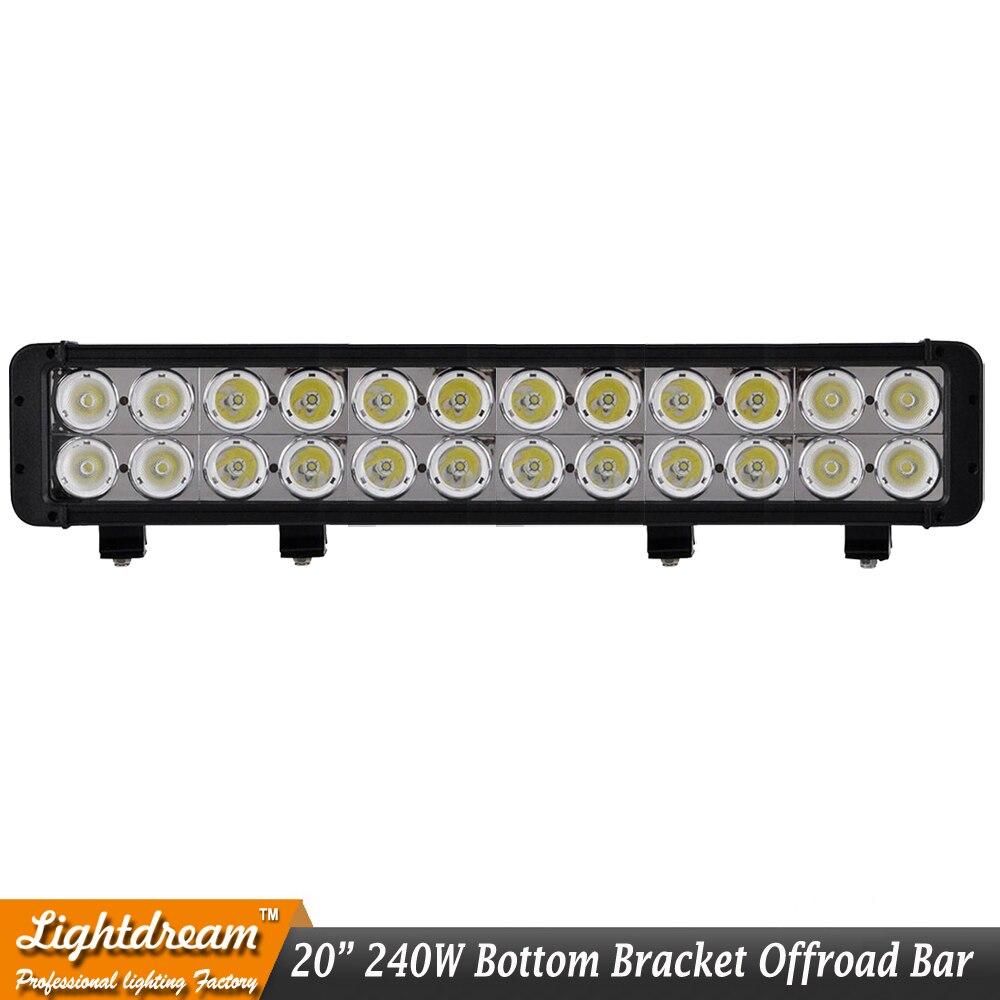 """1pc of 240W led work light bar 20"""" off road led bar 12V 24V 240w led light bar Extraljus For Truck CAR SUV ATV 4WD 4X4"""
