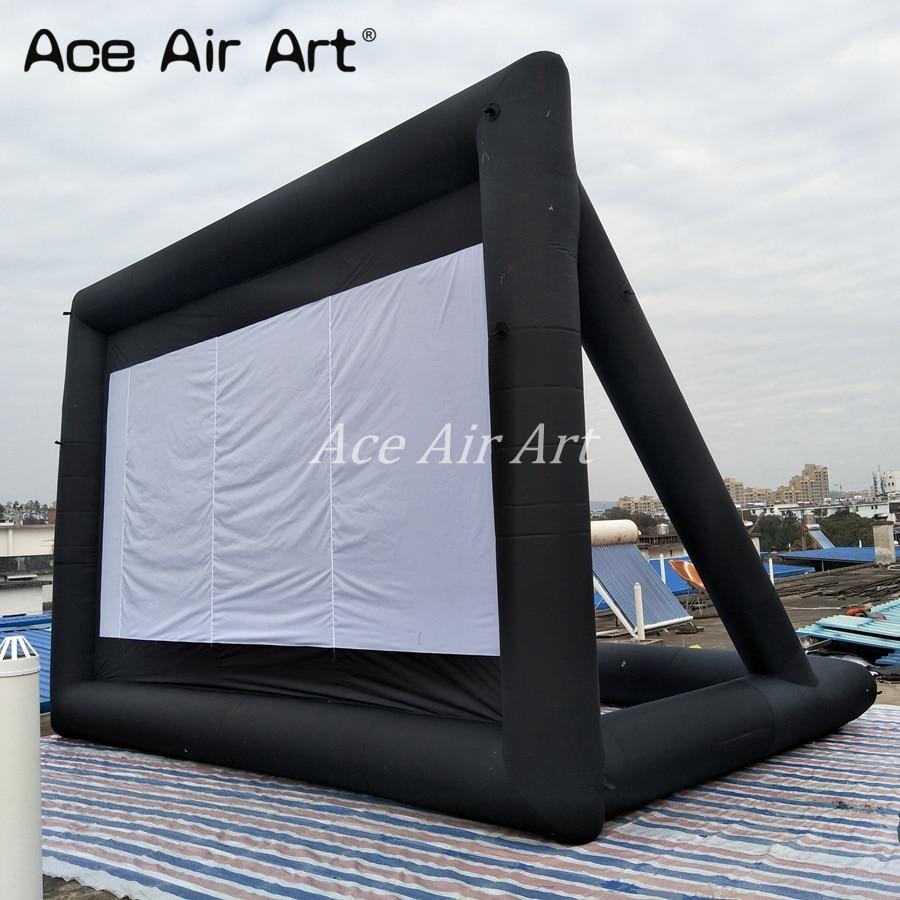 عرض Ace Air Art 300 بوصة شاشة عرض فيلم عملاقة قابلة للنفخ في الهواء الطلق تأتي مع منفاخ هواء