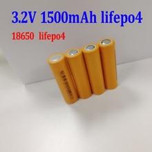 Marca 3,2 v 18650 LiFePO4 1500 mAh batería de alto drenaje 10A celdas para diy 12 v 6 v 7Ah 6Ah inversor de luz de coche de juguete para niños de 10Ah 20Ah