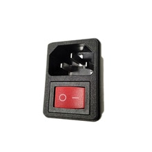 2 pin red rocker switch, без светильник, AC, вход, розетка, разъем питания, адаптер питания