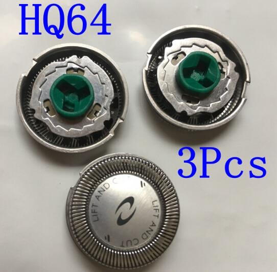 3 pcs Substituir lâmina de barbear Cabeça HQ64 para Barbeador elétrico philips HQ54 HQ6070 HQ6073 7310XL HQ7325 HQ7340 PT710 PT715 PT725 PT720