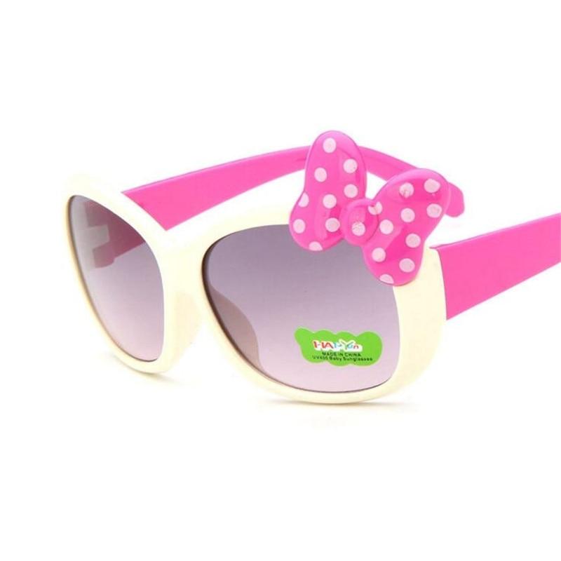 ZXTREE Cute Kids Sunglasses Children Baby Hello-Glasses Bow Design Frame Boy Gilrs Cat Eye Sunglasse