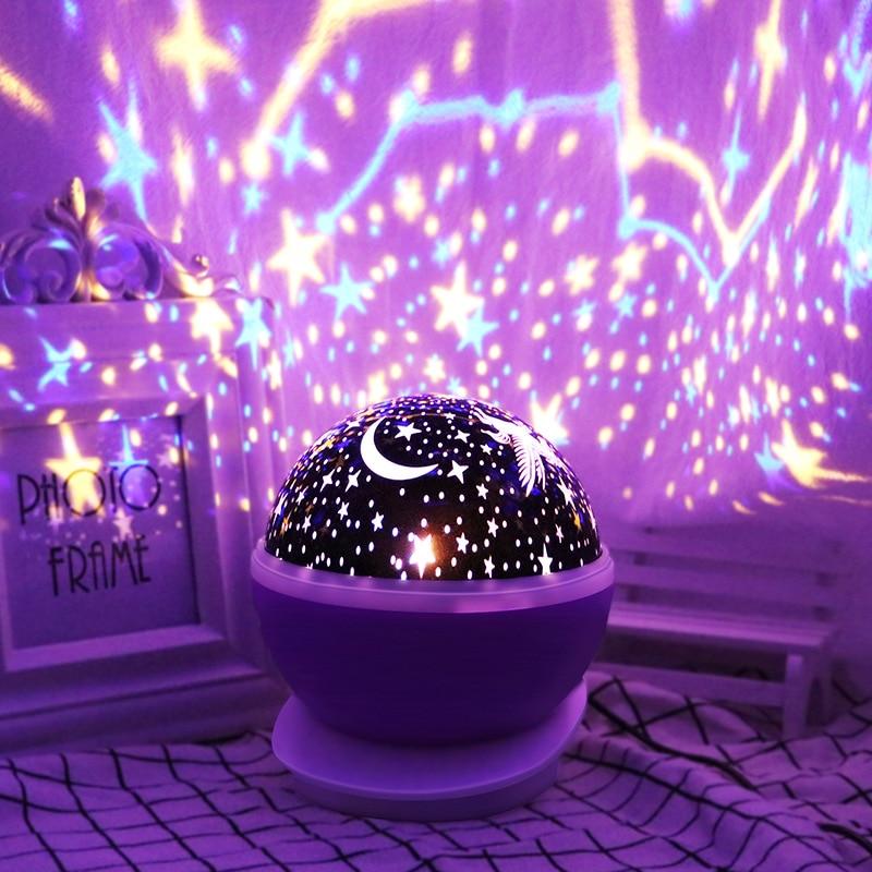 LED veilleuse scène lampe ciel étoilé Table lumière Usb éclairage décor maison cadeau créatif