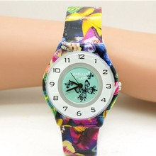 New Arrival High Quality Fashion Children's Butterfly Design Analog Kids Clock Quartz Watches Kol Sa