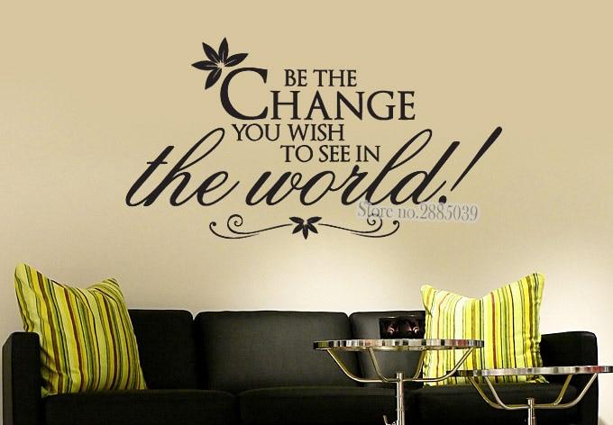 Новейшие креативные настенные наклейки с цитатами, которые вы хотите увидеть... обои виниловые наклейки диван фон Декор для спальни LA391