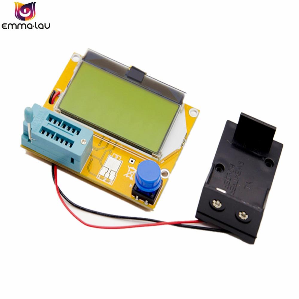 Caliente LCR-T4 ESR Metro Transistor Tester Digital Mega328 M328 Lcr de triodo capacitancia prueba Muiltmeter ESR MOS/PNP/NPN L/C/R