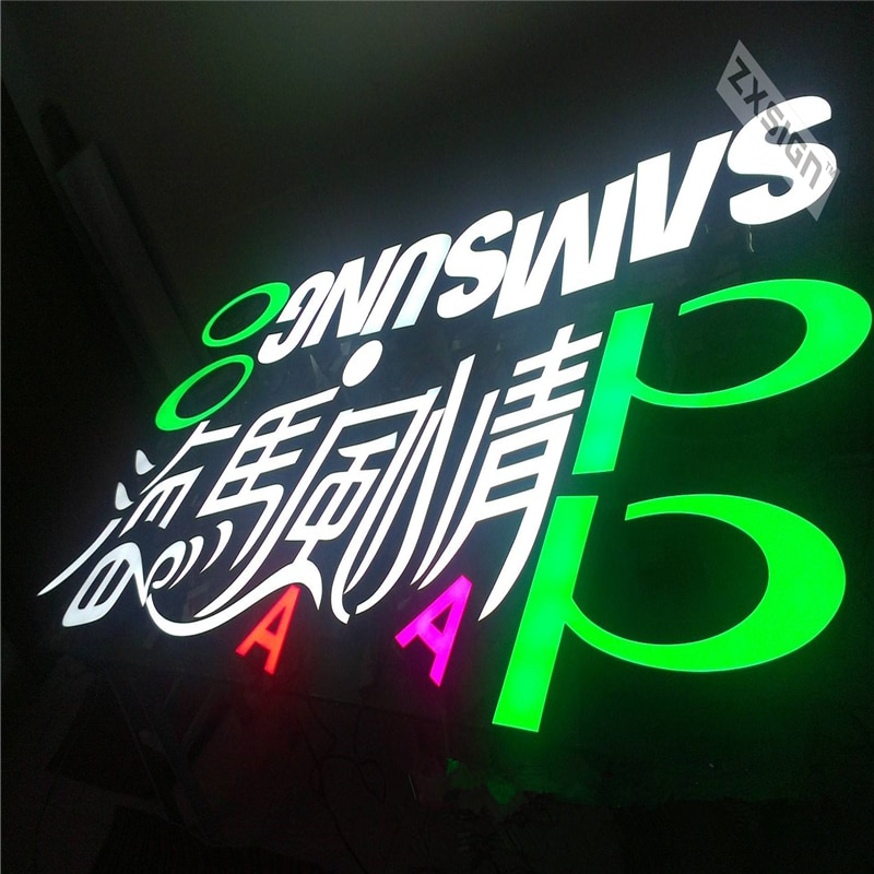Factory Outlet Outdoor Brightest led resin letter lights sign for illuminated letters