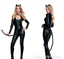 Bodysuit Coat of Paint Sexy Cat Cosplay Costume Erotica Disfraces Night Store Performance Trajes Jumpsuit Woman Animal CA899