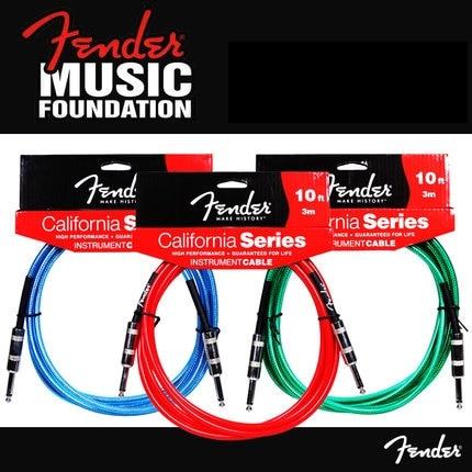 Fender Cable de instrumentos de la serie California, disponible en 3/4.5/6 metros