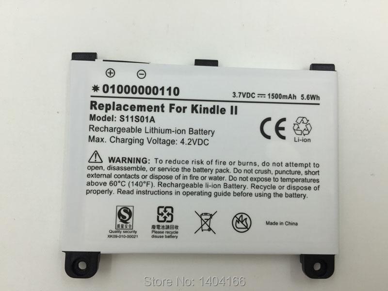 Dxqioo alta qualidade polímero bateria de lítio 1500mah para amazon kindle 2 kindle dx s11s01a ebook bateria