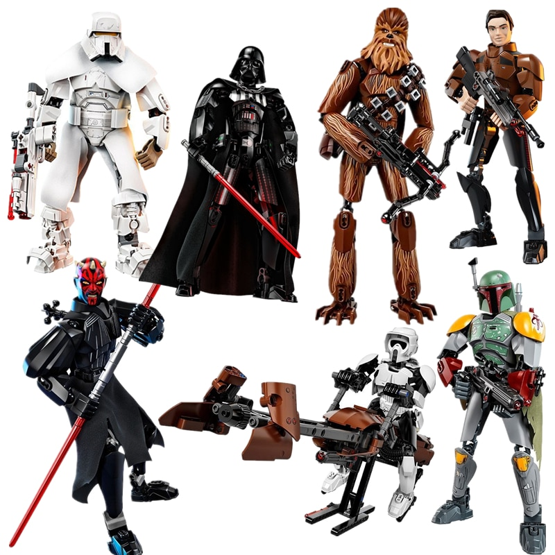 New Star Wars Darth Toys Jango Erso K-2SO  Figure toy Building Blocks StarWar Toys For Children