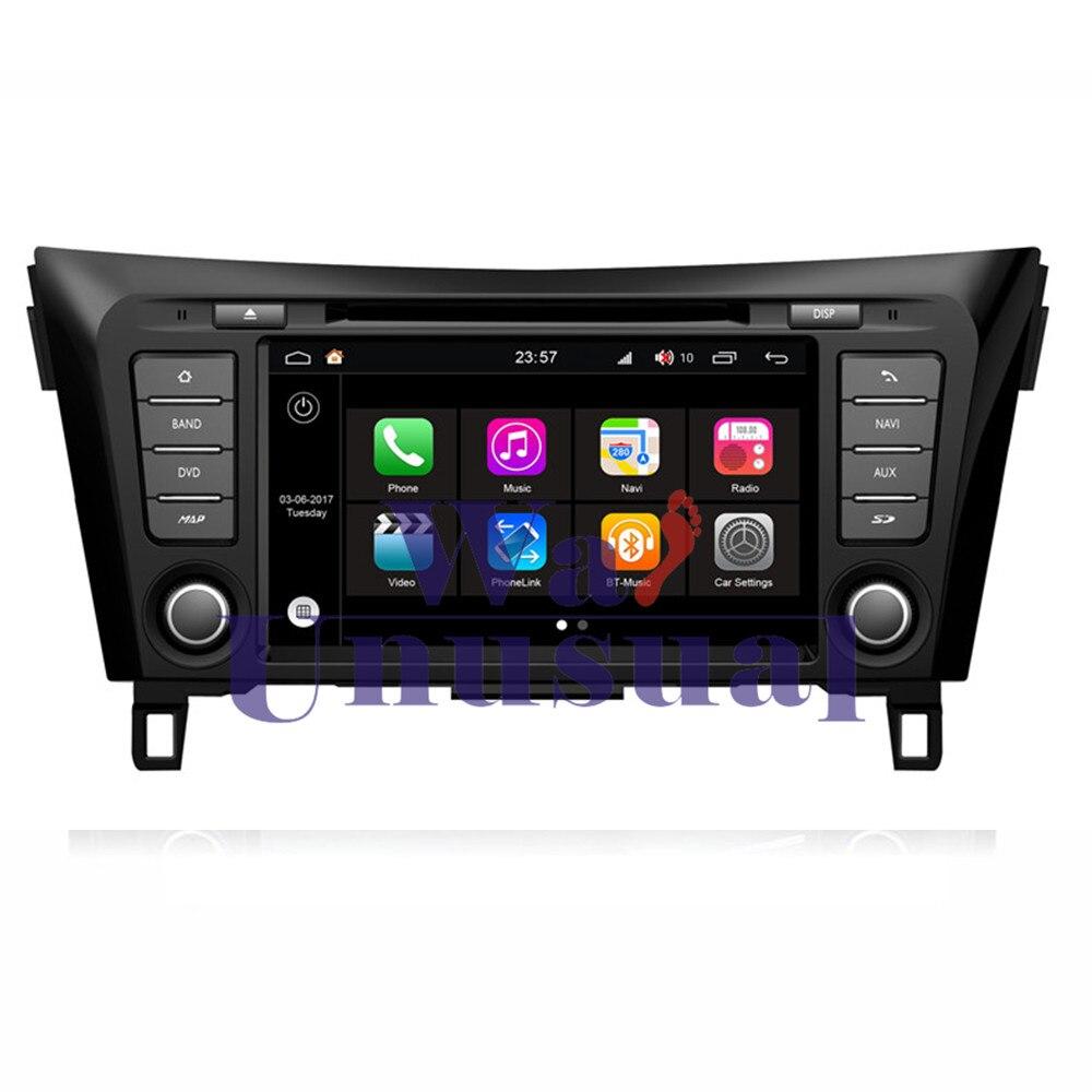 "WANUSUAL 8 ""WINCA S190 Android 7,1 Quad Core 16G 2G RAM reproductor de DVD de coche para Nissan Qashqai 2014 navegación GPS Bluetooth mapa wifi"