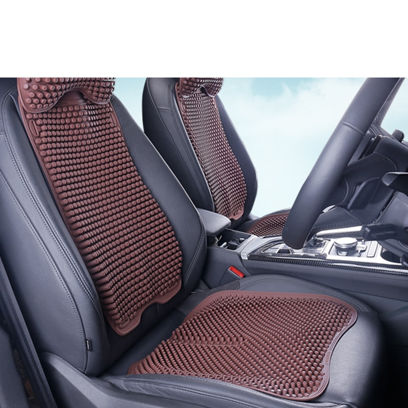Lsrtw2017 Silica Gel Car Four Season Breathable Heat Dissipation Seat Mat Headrest Lumbar Pillow