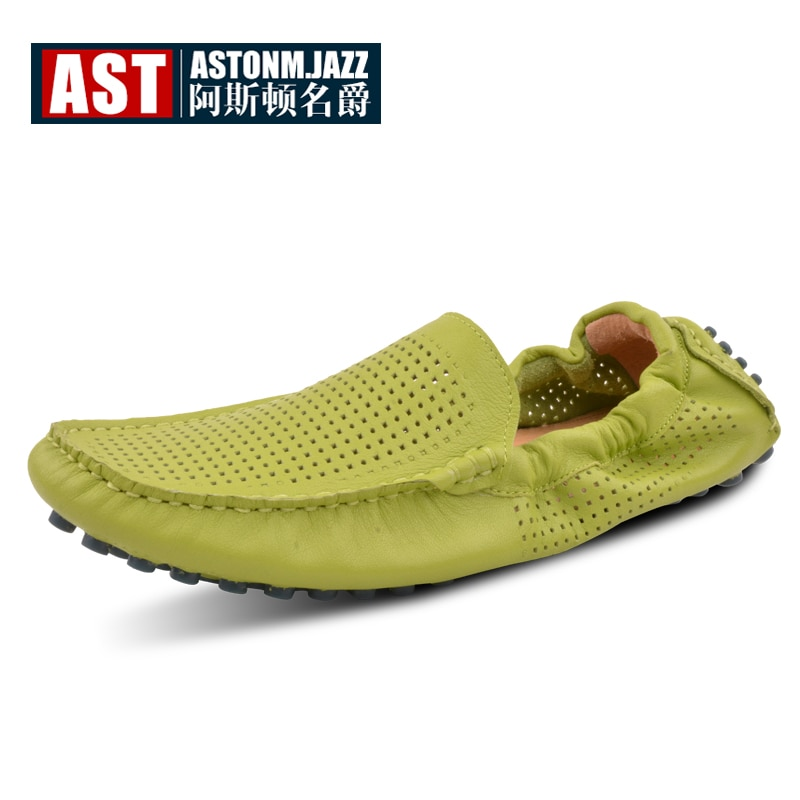 7 Colors US Size 6-11 New Comfy Leather Men Cut- OutS Driving Moccasin Loafer Flats Shoes