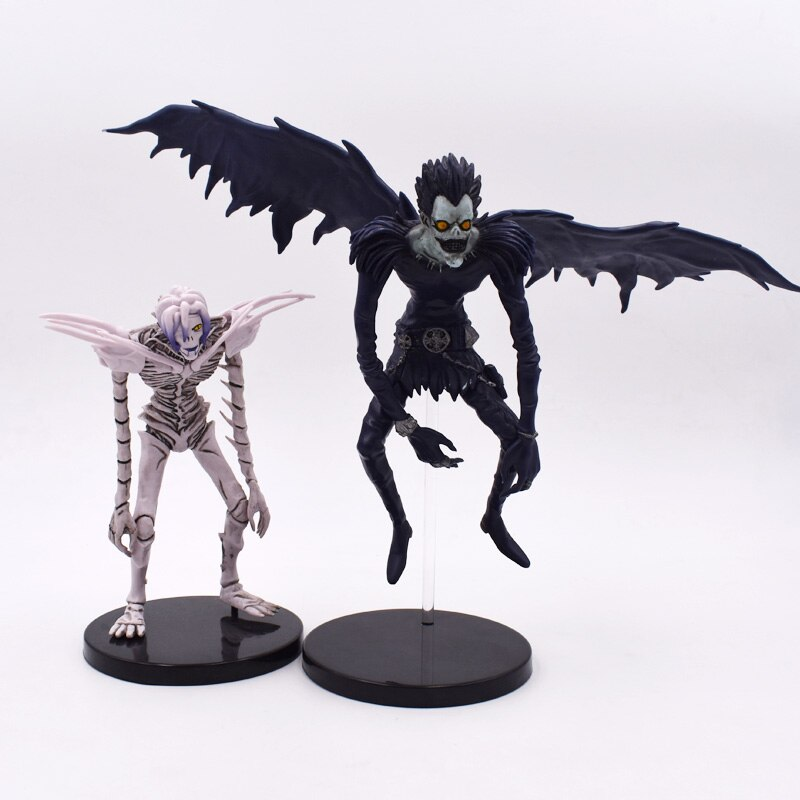 15-18cm 2 estilo Anime la nota de muerte Deathnote Rem Ryuuku PVC colección de figuras de acción modelo de juguete envío gratis