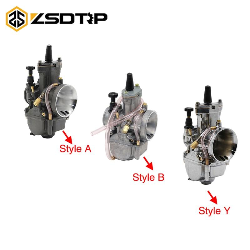 ZSDTRP PWK de 21MM 24MM 26MM 28MM 30MM 32MM 34MM de carburador para escúter Jog DIO KR150 CR80 CR85R con poder Jet