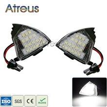 Atreus 2 Stuks Geen Fout Auto Led Onder Zijspiegel Lichten 12V Wit Led Lamp Voor Vw Golf 5 mk5 Mkv Passat B6 Jetta Eos Accessoires