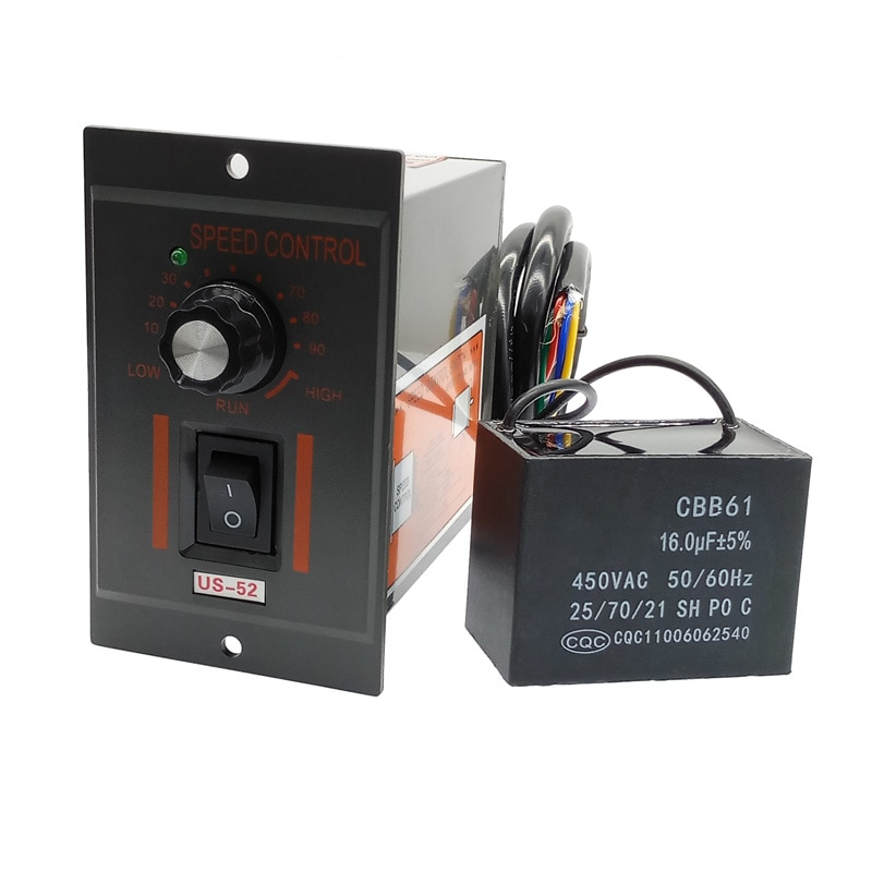 US-52 220V 400W ac speed controller forword backword with filter capacitor ac regulator motor contro