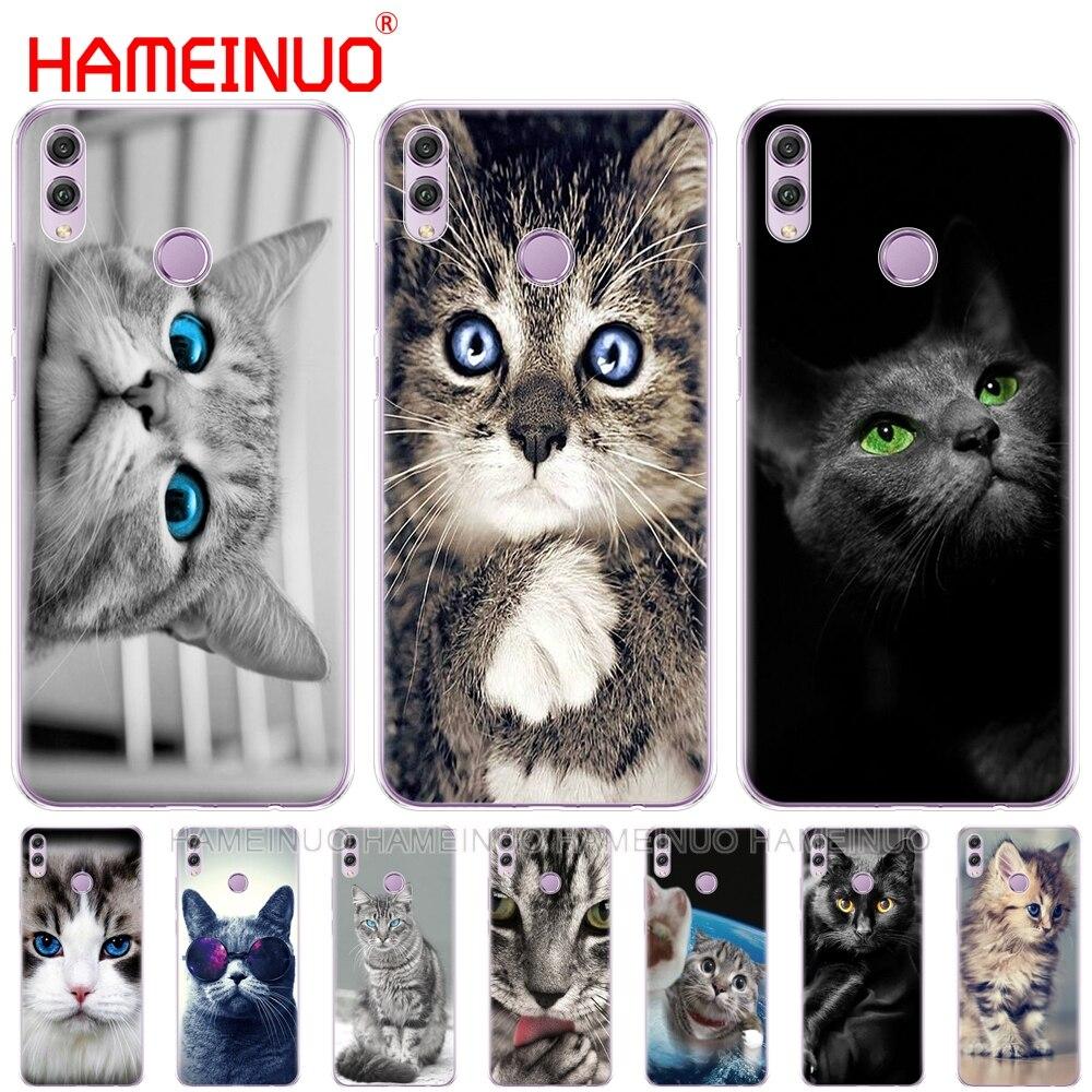 Funda de teléfono gato gatito ojos azules lindo animal para Huawei NOVA 3 3i mate 20 pro para honor 8x max note 10