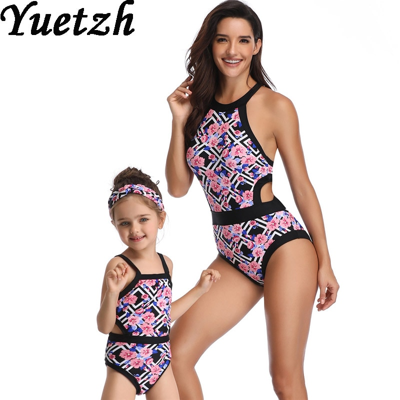 2019 nuevo traje de baño de una pieza para mujeres y niñas traje de baño de una pieza para niños