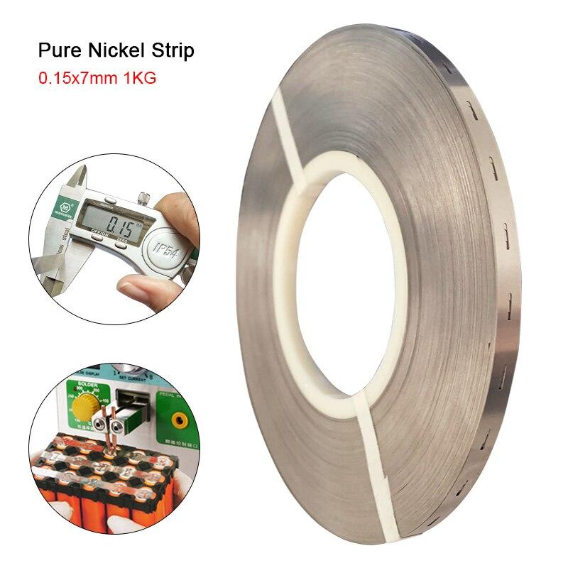 1KG Tira de níquel puro 0,15*7mm paquete de baterías de litio soldadura de cinta de níquel para 18650 baterías de alta pureza que conecta la cinta de níquel