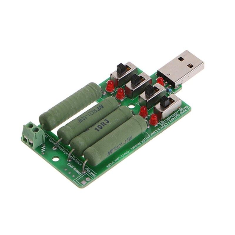 Электронный резистор USB для сброс нагрузки, Регулируемый 15 тестер тока W312