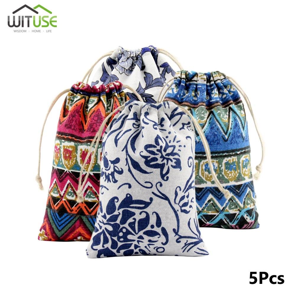 Caliente 5 unids/lote portátil bolsas chicas bolsas de zapatos de algodón de las mujeres bolsa de viaje bola para almacenamiento de ropa de alta calidad bolsa de maquillaje
