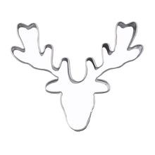 Newly Cake Cookie Mould Cutter Deer Head Reindeer Stainless Steel DIY Fondant Kitchen Mold XSD88