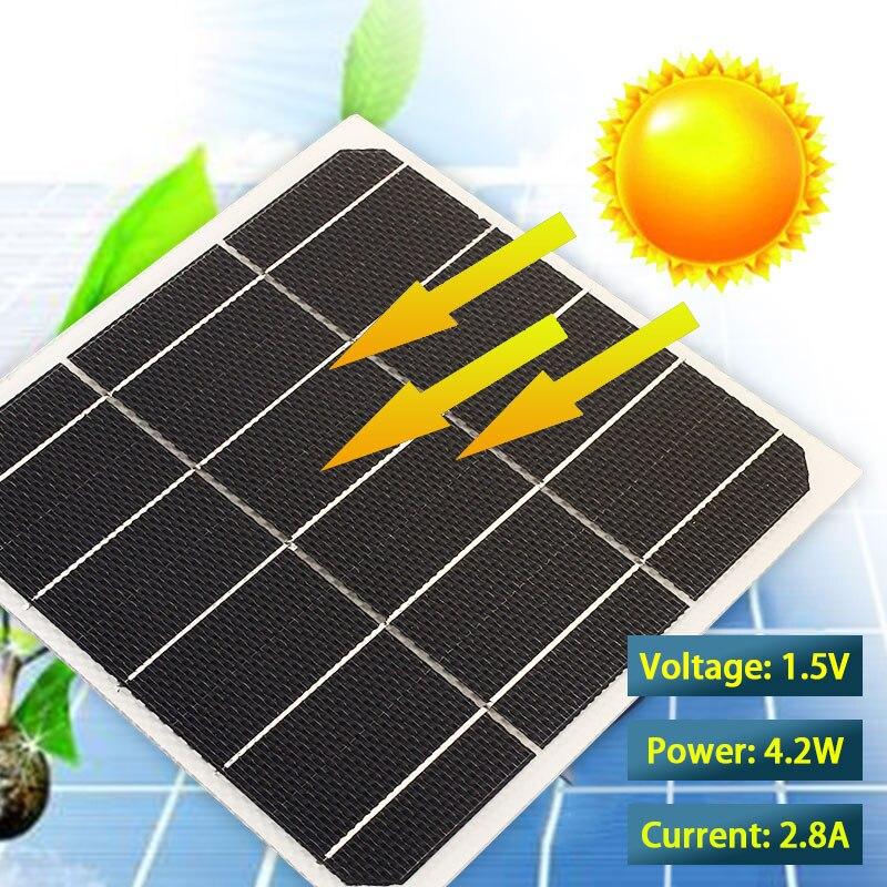 Durable Solar Panel 170*170mm Monocrystalline Silicon 2.8A ETFE 4.2W 1.5V Module Mini Toys Part Home Improvement DIY Powered