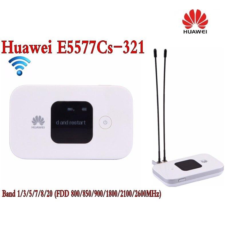 الأصلي إفتح 4G راوتر لاسلكي LTE موبايل واي فاي راوتر مع فتحة بطاقة SIM هواوي 1500Mah E5577Cs-321 2 قطعة 4g هوائي