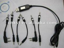 Câble de programmation USB tout en un pour Moto/Kenw00d/Icom/Vertex/Wouxun/Puxing/Quansheng/Baofeng Radio bidirectionnelle
