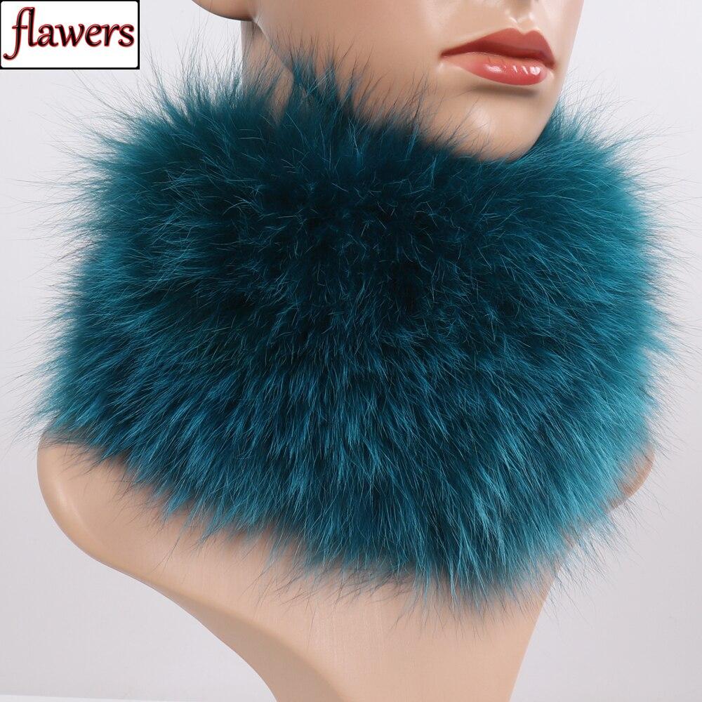 Nueva bufanda de piel de zorro Real diademas de Piel de mujer anillo de invierno bufandas de piel de zorro cuello de lujo más cálido buena 100% elástica silenciadores de piel Natural