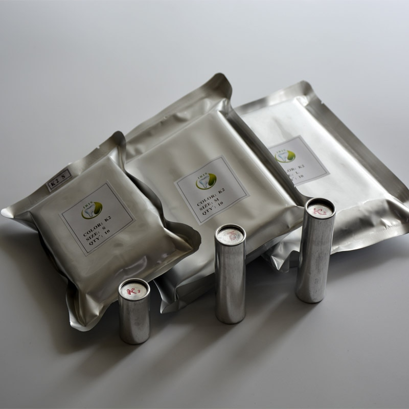 Campioni 10 Pezzi K2 Resina Dentale Cartucce Cartucce Dentale con K2 Valplast Flessibile Acrilico Materiale In Resina 25.5*45/ 77/85 millimetri
