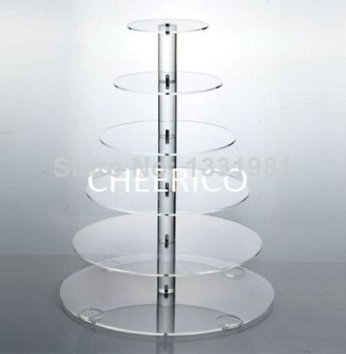 event party supplies 6 Tier free shiping Layout Beautiful Acrylic Cupcake Stand Party Wedding Festival Supplies decoration