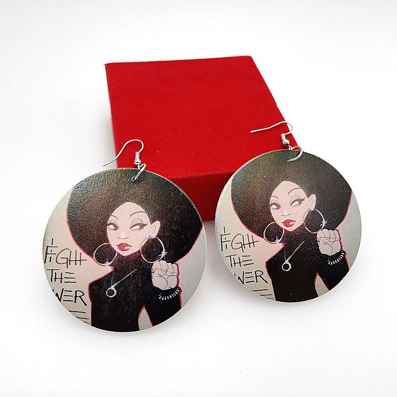 YD & YDBZ 2019 nuevas mujeres gota pendientes un par de madera pendientes Festival regalo Punk estilo Dangler joyería regalo chicas gótico pendientes