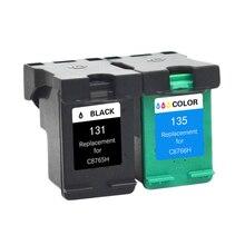 LuoCai cartouches dencre compatibles pour HP 131 135 Deskjet 460 5743 5940 5943 6843 6940 Photosmart 2573 2613 8753 cfp 1600 1613
