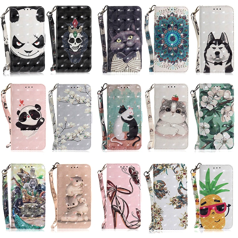 Luxury Leather mobile Case sFor Huawei Honor 9 Lite Case Wallet cell Phone Bag Cover Protective Coque For Huawei P Smart Case enlarge