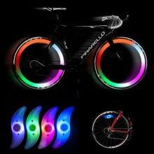 10 teile/los Phantasie Blinkende LED Bikes Fahrrad Radfahren Speichen Draht Reifen Reifen Rad LED Helle Licht Lampe